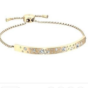 MK Crystal Encrusted Slide Bracelet